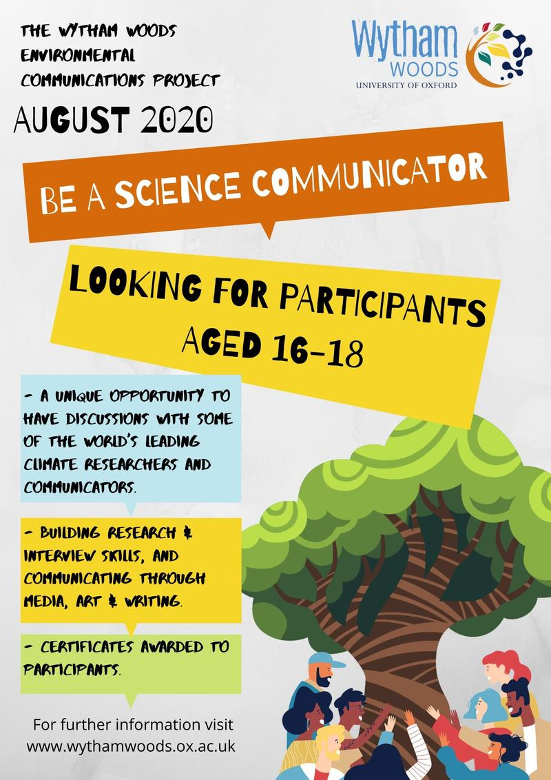 be a science communicator